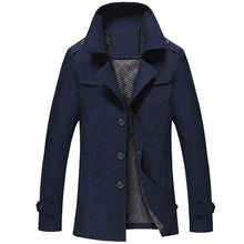 Plain Stripe Lapel Polyester Epaulet Men's Jackets Coat