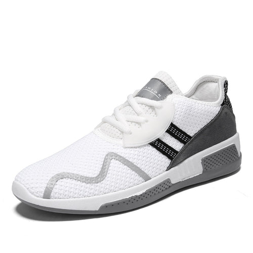 Breathable Flat Lace Up Round Toe Men's Sneakers