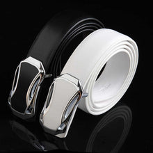 Smooth Buckle Casual Genuine Leather Men's Belts