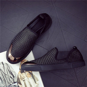 Breathable Wear Resistant Weaving Men's Casual Shoes