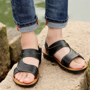 Breathable Genuine Leather Beach Sandals