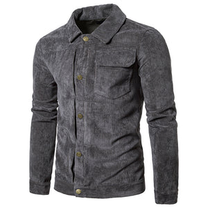 Pure Color Long Sleeve Single-Breasted Men's Jacket