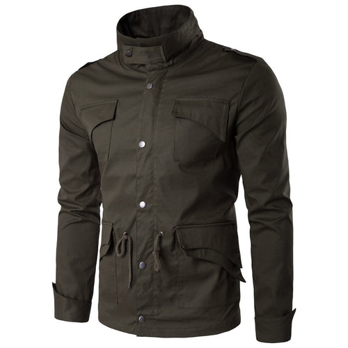 Casual Hip Hop Stand Collar Men's Outerwears