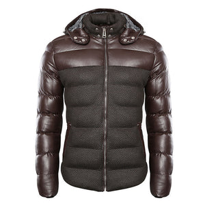 Windproof Hooded Comfortable Men's Puffer Jacket