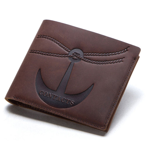 Vintage Two Fold  Magnetic Buckle Men's Wallets