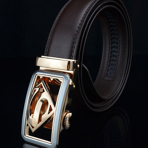 Automatic Buckle Business  Genuine Leather Men's Belts