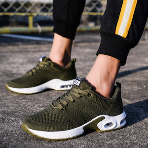 Army Green Flyknit Air Max Sports Shoes