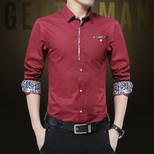 Pure Color Long Sleeve Single-Breasted Men's Shirt