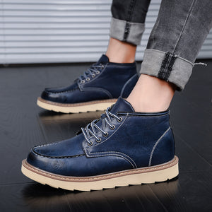 British Big Head Gradient Strap Men's Boots