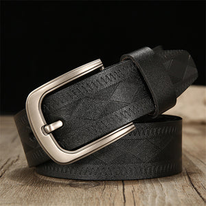 Print Comfortable Buckle Men's Belts