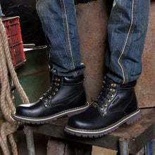 Anti-slip Tooling With Thick Bottom Knight Men's Boots