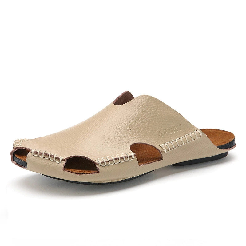 Genuine Leather  Backless Sandals