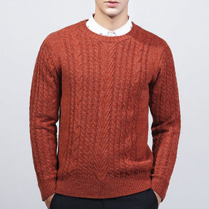 Super Warm Round Neck Men's Sweater