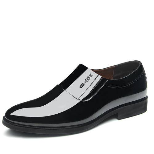 Patent Leather Wear Resistant Slip On Men's Oxfords