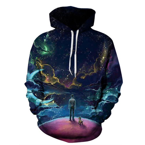 Starry Sky Printed Hoodies