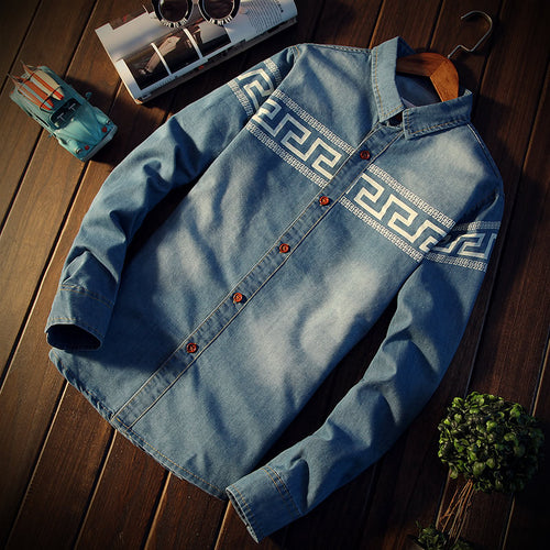 Lapel Cowboy Single Row Buckle Men's Hoodies