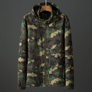 Camouflage Pocket Hooded Korean Casual men hoodie