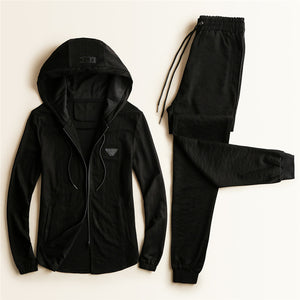 Heart Shaped Pocket Hooded Pullover Casual Simple men's suit