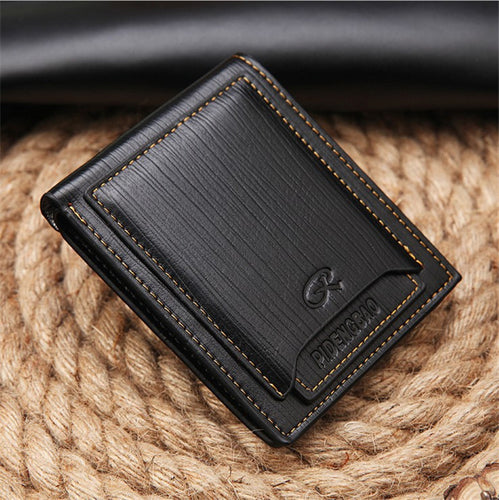 Leather Retro Patchwork Men's Wallets