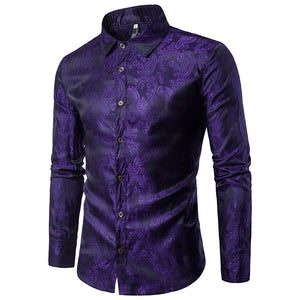 Embroidery Casual Long Sleeve Shirt