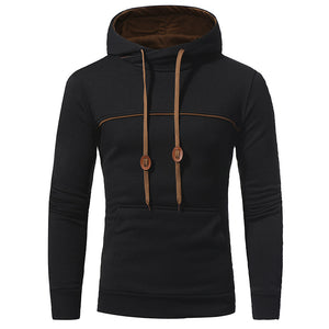 Plain Pocket Hooded Pullover Simple Men's Hoodie