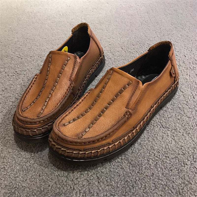 Breathable Slip On Genuine Leather Men's Casual Shoes