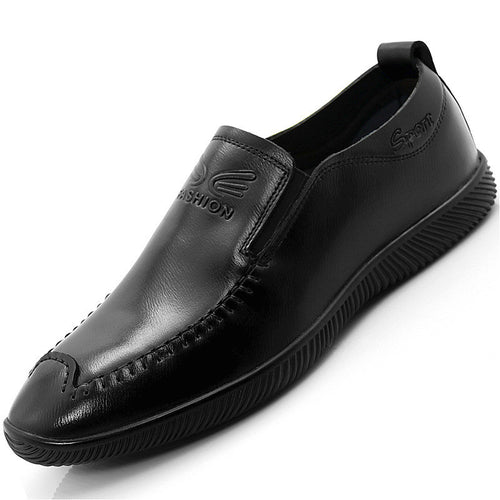 Breathable Leather Seams Men's Loafers