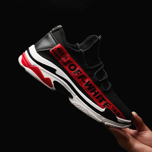 Letter Printed Mesh Sport Shoes