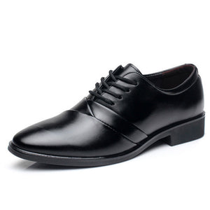 Breathable Solid Color Increase Men's Oxfords
