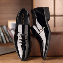 Men's Glitter Leather Business Shoes