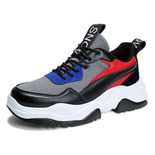 Color Block Thick Bottom Breathable Men's Sneakers