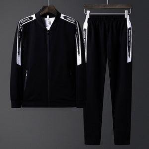 England Striped Solid Color Travel Men's Sports Suit