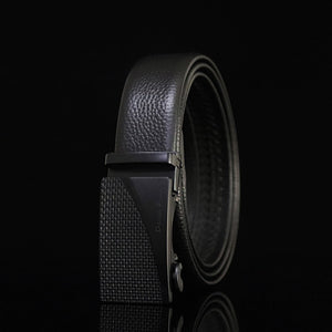 Automatic Buckle Genuine Leather Plain Men's Belts