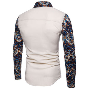 Big Code Long Sleeve Printing Men's T-shirt