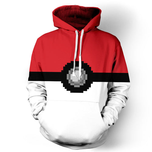 Pokemon Poke Ball  3D Digital Print Hoodies