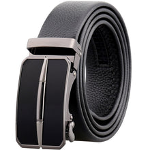 Automatic Buckle Metal Leather Men's Belts