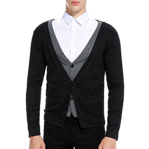 Brief Street Regular Slim Without Shirt Men's Sweater
