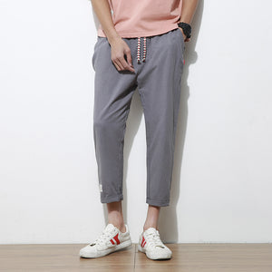 Ankle-length Cotton Hip Pants