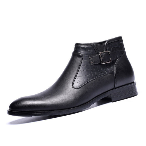 Business One Pedal Low Heel Men's Boots