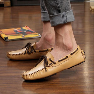 Soft Bottom Cowhide Breathable Casual Shoes