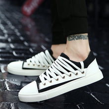 Belted Canvas Breathable Flat Men's Casual Shoes
