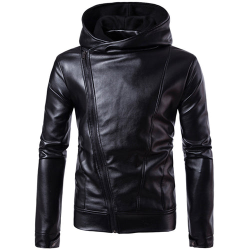 Hip Hop Plain PU Men's Outerwears