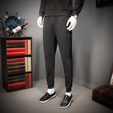 Round Collar Loose Solid Color Men's Sports Suit