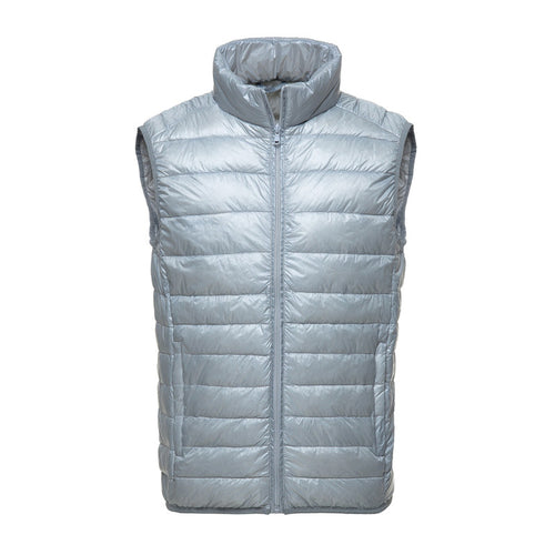Pure Color Smooth Short Men's Vest Jacket