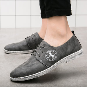 Breathable Solid Color Rubber Men's Casual Shoes