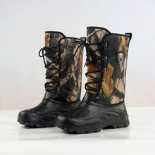 Camouflage High Tube Belt Thick Bottom Men's Boots
