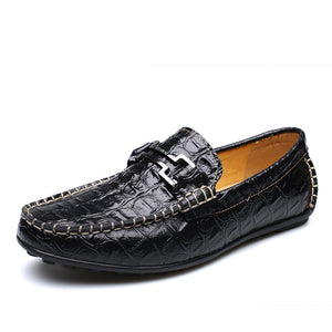 Alligator Bean With One Foot Pedal Men's Casual Shoes
