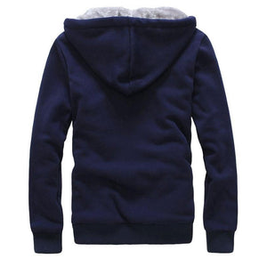 Adding Fleece Keep Warm Cold Men's Sports Suit
