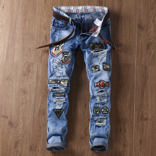 Trend Patch Slim Jeans