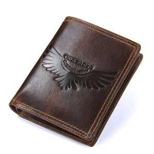 Zippered Short Paragraph Vintage Men's Wallets